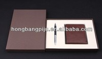 Hot selling 2013 leather wallet gift sets for boy