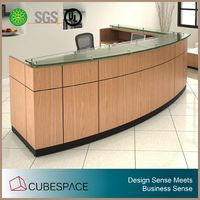 hot sale office furniture curved reception desk