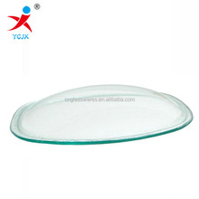 Pressed curve glass led lamp shade in solid cover