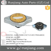OEM NO.16401-72090 133C7-15-205 17920-60D10 MB660667 car small size radiator cap for Toyota/Mazda/Suzuki cooling parts