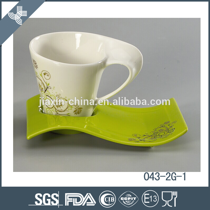 New design hot sell porcelain bulk tea cup and saucer sets wholesale