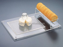 clear acrylic serving tray or acrylic kitchen organizer
