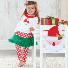 New Arrive Baby Girls Christmas Costumes Long Sleeve +Pants Clothing Set Party Clothes