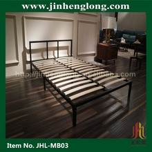 Modern headboard Twin bed slats metal bed frame for memory foma mattress