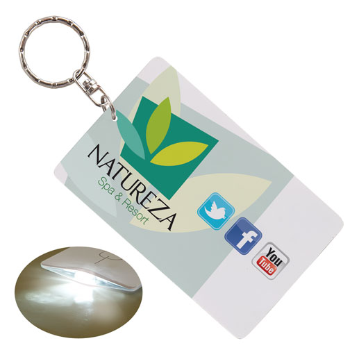 Full color print Press'n Lite key chain. Comes with your full color logo.