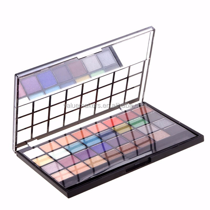 Custom logo 32 Color Shimmer Pigmented Eye shadow makeup eyeshadow palette