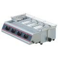 Commercial Restaurant Stainless Steel Smokeless Gas BBQ Grill With 6 Burners For Sale BN-747