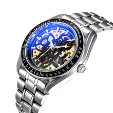 Fashion Men's Hollow Analog Luminous Mechanical Watch 2017