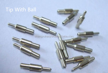 tip with ball in tungsten carbidefor ballpoint refills