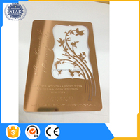 2016 Hollow out golden metal business card design