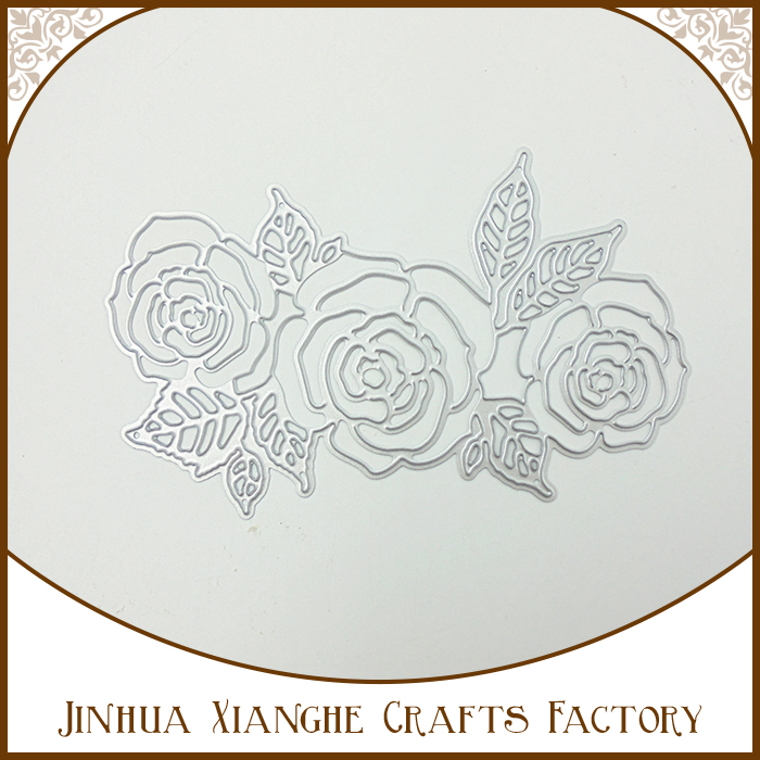 Beautiful Rose Flower Cutting Die Metal Stencil for Decoration
