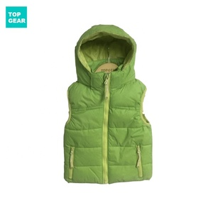Baby's beautiful winter padded vest with detachable hood