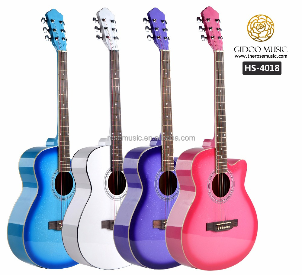 40 inch colorful guitar string Chinese guitar for beginner with resonable guitar prices HS4018