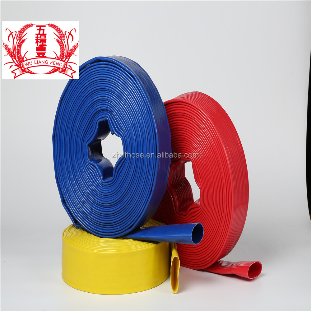 Lay flat water discharge hose <strong>pvc</strong> supplier for Yiwu Market