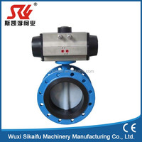 High performance wafer type stainless steel sanitary pneumatic butterfly valve with pneumatic actuator