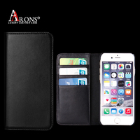 Premium wallet opening leather phone cover for iphone6 case