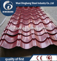 corrugated metal roofing sheet with pvc