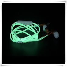 Free Sample Luminous Wire Mobile Phone Earphone In Ear