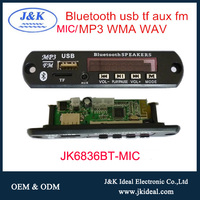 JK6836BT-MIC MP3 Radio Circuit Module WAV+FM+USB+SD mp3 module usb