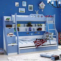 Hot sale kids bunk bed for kid children double deck bed Wooden furniture