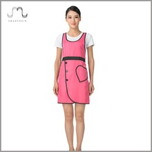 High quality Japanese Hot Selling Sexy Girl Spa Apparel Work Apron Smocks with Hear-shaped Pocket