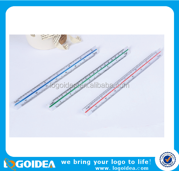 triangular scale plastic ruler