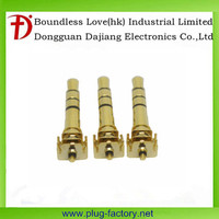 Chinese 3.5mm gold plated 4-pole 3pin headphone jack plug for ipad