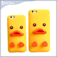 New products funky cartoon design small yellow duck mobile phone case for iphone 6
