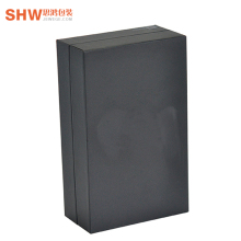 OEM electronic products phone boxes, custom black texture paper packaging box