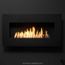Art Wall Mount Electronic Bio Ethanol Fireplaces Inserts With Remote Controller