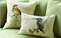100%cotton screen custom printed cushion covers