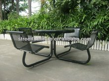 Outdoor metal table and chairs frame guangdong furniture