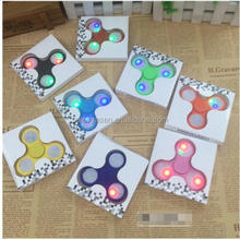 EDC Fidget led spinner Toy with Continuously Color Changing LED Light hand Fidget spinner Bearing Stress Reducer for ADHD