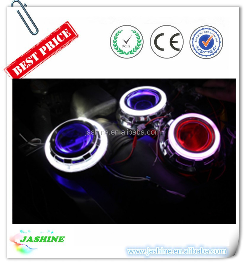 2015 HOT SELLING!!! LED Devil Eye Projector Headlight /Mini projector Lens LED Devil Eyes