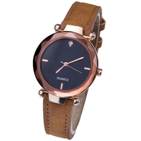 Minimalist Wrist Watch Women Casual Luxury Diamond Simple Dial Quartz Analog Fashion Leather Lady Watch Custom Logo Cheap Price