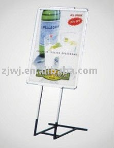 plastic outdoor Snap Poster Frame pole shopping mall display stand