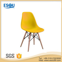 Modern cheap waiting room wooden plastic dining room chairs