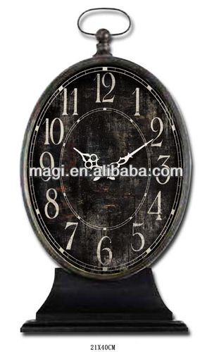 New Style Retro Metal Black Stand Up Clock