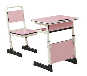 Cheap students desk and chair set hot sale high school