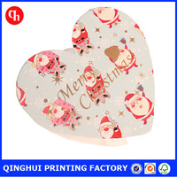 2016 latest design heart shape handmade greeting card