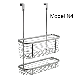 Metal Wire Cabinet Kitchen Door Hanging Storage Organizer Basket for Aluminum Foil, Sandwich Bags, Cleaning Supplies