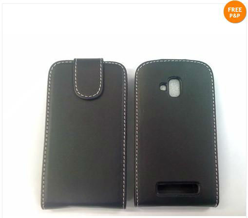 2013 high quality cheap Black Leather Case for Nokia Lumia 610,for Nokia Lumia 610 Cover case shell ---Laudtec