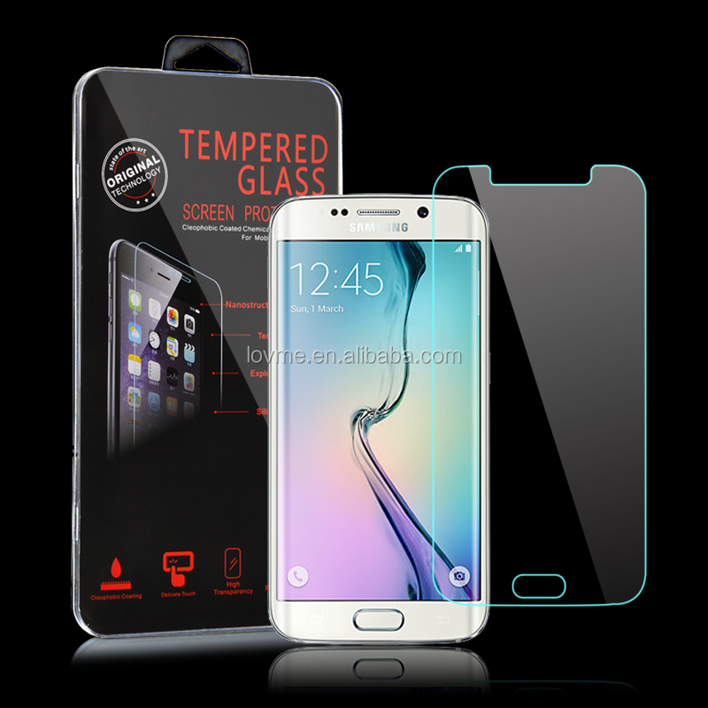 Ultra clear 9h tempered glass screen protector for Samsung Galaxy S6 Edge