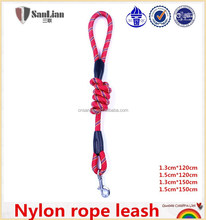 Red nylon rope leash round strong string for dogs