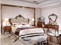 UAE Style Luxury Antique Bed, Luxury Bedroom Furniture Set, Solid Wood Bedroom Furniture