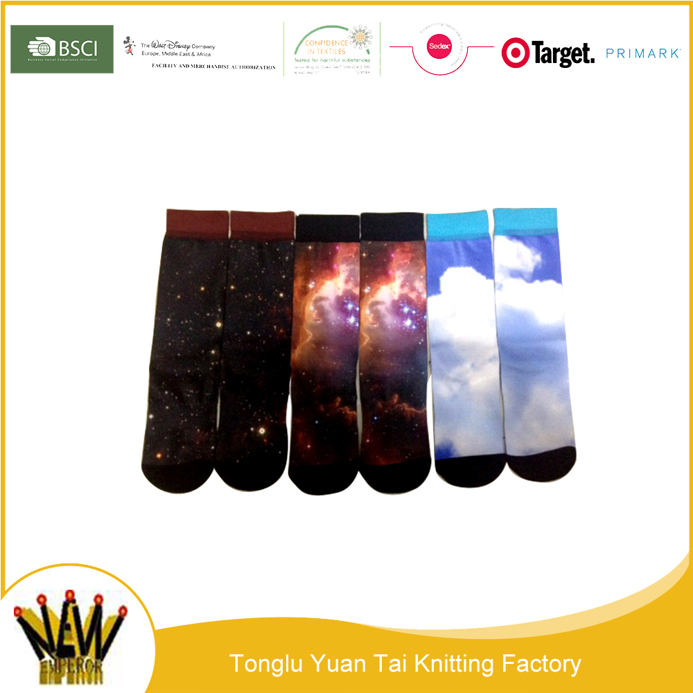 Golden supplier with best price of men digital print grip socks