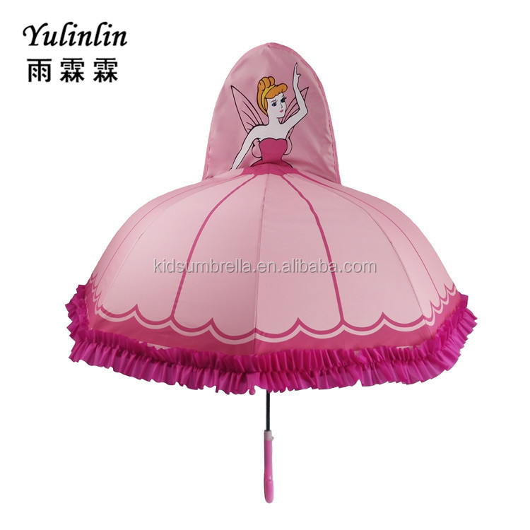 Pink princess toddler umbrella beautiful umbrella grift for gils