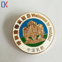 manufacture high quality metal soft enamel souvenir lapel pin with China city pattern
