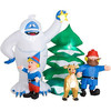 Particular Christmas inflatable with tree christmas decoration