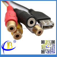 Wholesale Factory Price Female USB To RCA Male Cable By Jin Huibo